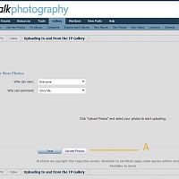 Uploading to and from the TP Gallery