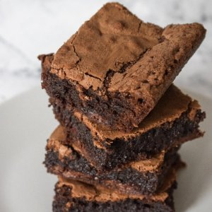 Dairy-free chocolate brownies! | Nikon D5300