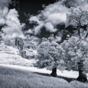 Corfe castle 680nm infrared.jpg