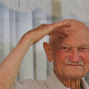 Giuseppe Torcasio at the age of 91 in 2011