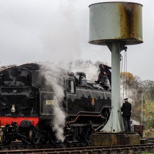 EAST LANCASHIRE RAILWAY - QUENCHING THIRST AT RAWTENSTALL
