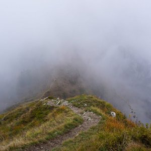 Fog Over a Ridge - Lecco, Italy